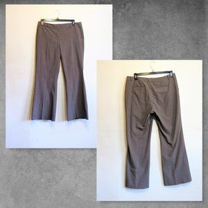 Wome's Career Pants Brown Stiped Stretch 14 Averag